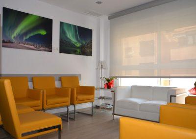 Sala de espera del Instituto Vascular Malagueño
