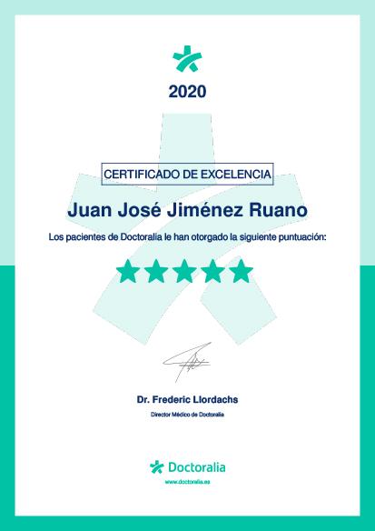 Certificado Calidad Juan José Jiménez Ruano